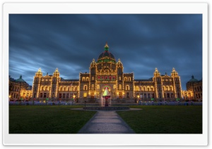 British Columbia Parliament Buildings Christmas HD Wide Wallpaper for Widescreen