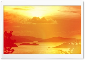 British Virgin Islands Sunset HD Wide Wallpaper for 4K UHD Widescreen desktop & smartphone