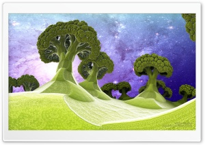 Broccoli Planet 3D HD Wide Wallpaper for Widescreen
