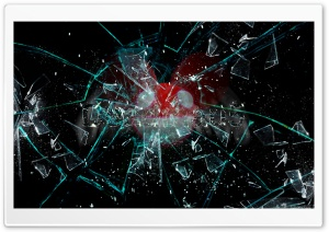 Broken Glass Deadmau5 HD Wide Wallpaper for Widescreen