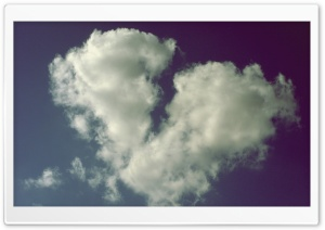 Broken Heart Shaped Cloud HD Wide Wallpaper for Widescreen