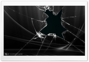 Broken Window HD Wide Wallpaper for Widescreen