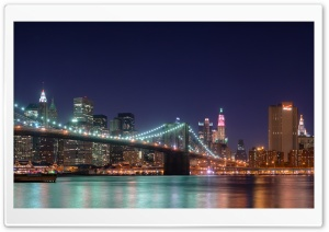 Brooklyn Bridge at Night HD Wide Wallpaper for 4K UHD Widescreen desktop & smartphone
