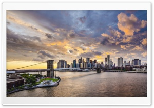 Brooklyn Bridge East River Manhattan New York HD Wide Wallpaper for Widescreen
