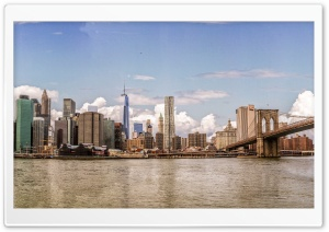 Brooklyn Bridge HDR, New York HD Wide Wallpaper for Widescreen