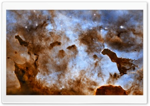 Brown Nebula HD Wide Wallpaper for Widescreen