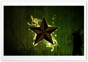 Brown Star Green HD Wide Wallpaper for Widescreen