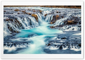 Bruarfoss Waterfall, Iceland HD Wide Wallpaper for 4K UHD Widescreen desktop & smartphone
