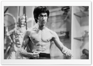 Bruce Lee Black And White HD Wide Wallpaper for Widescreen