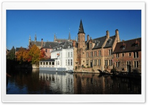 Bruges And It's Canals HD Wide Wallpaper for 4K UHD Widescreen desktop & smartphone