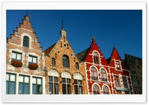 Bruges Architecture Style, Belgium HD Wide Wallpaper for Widescreen