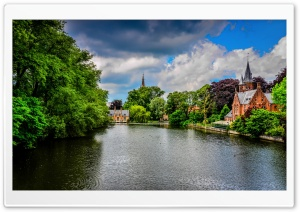 Brugge Belgium Kasteel Beauvigne Minnewater Park HD Wide Wallpaper for Widescreen