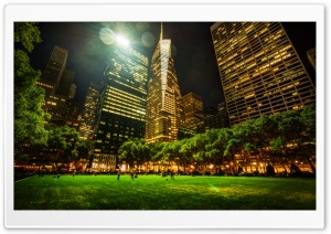 Bryant Park in New York City HD Wide Wallpaper for 4K UHD Widescreen desktop & smartphone