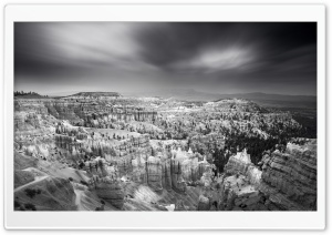 Bryce Canyon National Park Black And White HD Wide Wallpaper for 4K UHD Widescreen desktop & smartphone