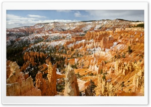 Bryce Canyon, Winter HD Wide Wallpaper for 4K UHD Widescreen desktop & smartphone