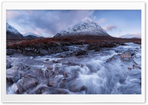 Buachaille Etive Mor And River Coupall HD Wide Wallpaper for 4K UHD Widescreen desktop & smartphone