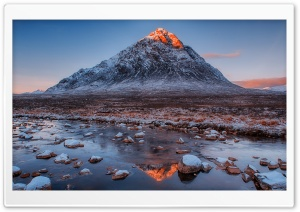 Buachaille Etive Mor mountain, Scotland HD Wide Wallpaper for Widescreen