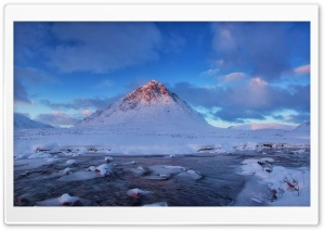 Buachaille Etive Mor Mountain, Winter HD Wide Wallpaper for Widescreen