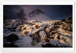 Buachaille Etive Mor Mountain Winter Snow, Highlands of Scotland Ultra HD Wallpaper for 4K UHD Widescreen desktop, tablet & smartphone