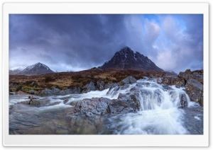 Buachaille Etive Mor Waterfall HD Wide Wallpaper for Widescreen