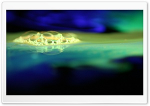 Bubbles Blue And Green HD Wide Wallpaper for Widescreen
