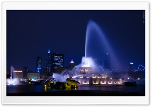 Buckingham Fountain HD Wide Wallpaper for 4K UHD Widescreen desktop & smartphone