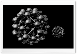 Buckminsterfullerene Model HD Wide Wallpaper for 4K UHD Widescreen desktop & smartphone