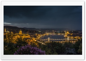 Budapest at Night HD Wide Wallpaper for 4K UHD Widescreen desktop & smartphone