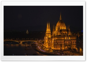 Budapest Night Photography HD Wide Wallpaper for 4K UHD Widescreen desktop & smartphone