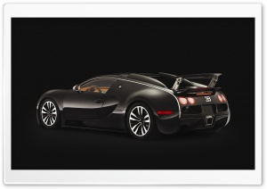 Bugatti Beyron 1.6 Black HD Wide Wallpaper for Widescreen