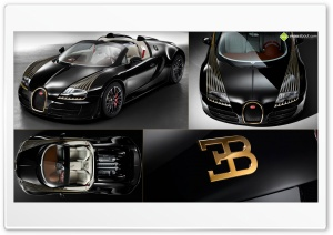 Bugatti Veyron Black Bess Ultra HD Wallpaper for 4K UHD Widescreen desktop, tablet & smartphone
