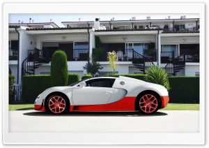 Bugatti Veyron White and Red HD Wide Wallpaper for Widescreen
