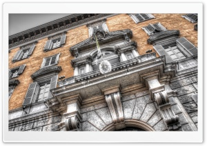Building in Rome HDR HD Wide Wallpaper for Widescreen