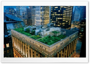 Building Roof Garden HD Wide Wallpaper for Widescreen