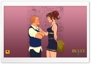Bully Scholarship Edition Jimmy vs. Cheerleader HD Wide Wallpaper for Widescreen