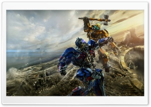 Bumblebee vs Optimus Prime Transformers The Last Knight HD Wide Wallpaper for 4K UHD Widescreen desktop & smartphone