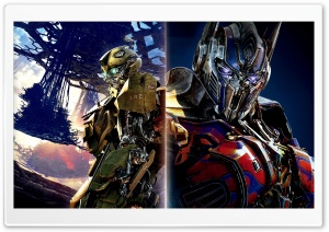 Bumblebee vs Optimus Prime Transformers The Last Knight HD Wide Wallpaper for Widescreen