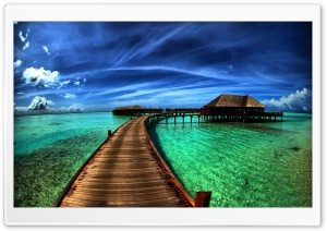 Bungalows On The Ocean HD Wide Wallpaper for Widescreen