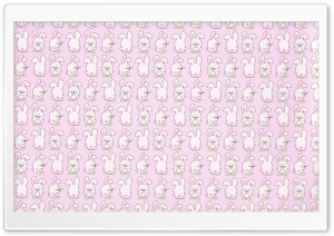 Bunny Pattern HD Wide Wallpaper for 4K UHD Widescreen desktop & smartphone