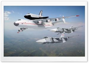 Buran On An-225 Fighters Ultra HD Wallpaper for 4K UHD Widescreen desktop, tablet & smartphone