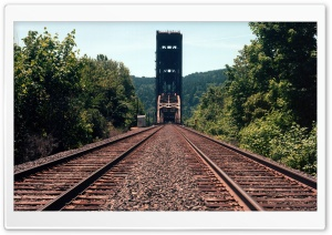 Burlington Northern Railroad Bridge HD Wide Wallpaper for Widescreen