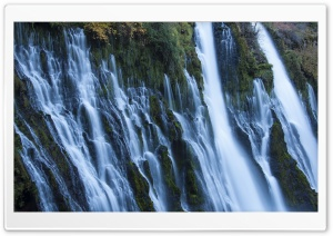 Burney Creek Falls HD Wide Wallpaper for Widescreen