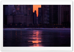 Burning A Path To Chicago HD Wide Wallpaper for 4K UHD Widescreen desktop & smartphone