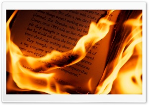 Burning Book HD Wide Wallpaper for Widescreen