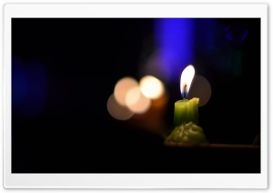 Burning Candle HD Wide Wallpaper for Widescreen