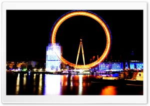 Burning London Eye HD Wide Wallpaper for Widescreen