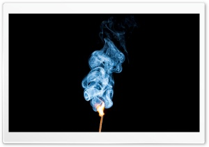 Burning Mamatchstick with Smoke HD Wide Wallpaper for 4K UHD Widescreen desktop & smartphone