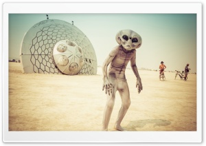 Burning Man USA Nevada Black Rock HD Wide Wallpaper for Widescreen