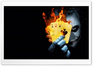 Burning Poker Joker HD Wide Wallpaper for Widescreen