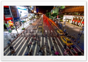 Busy Taipei HD Wide Wallpaper for Widescreen